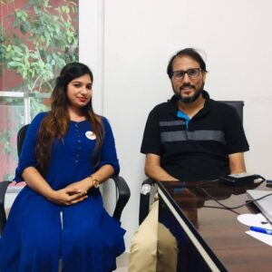 Monarch jaiswal with Arbab Usmani- Founder and CEO, Uppskill